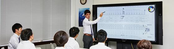 会議を活性化 Surface Hub 導入事例 株式会社商船三井様 コミュニケーション・情報収集の強化、そして専門性の高い業務の効率化